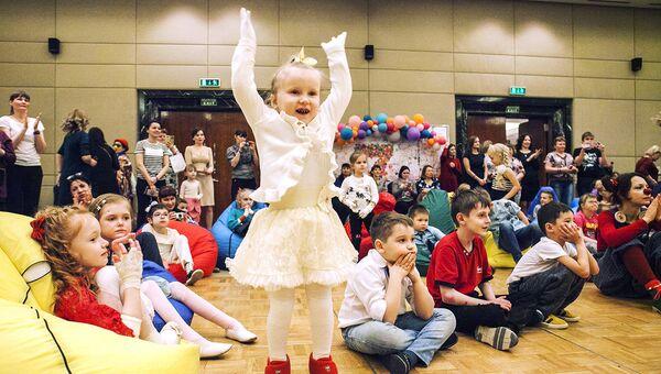 Дети-бабочки приехали в Москву на праздник