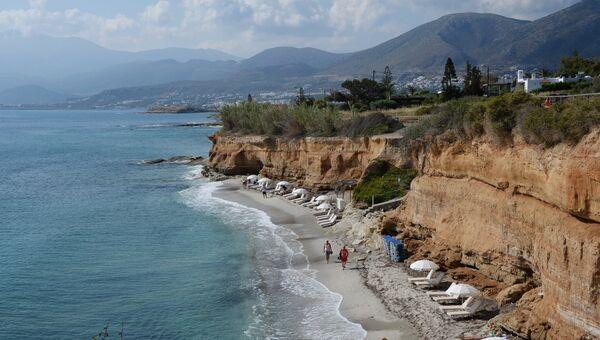 Пляж города Херсониссос на острове Крит