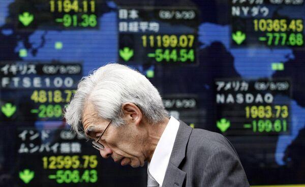 Падение фондовых индексов на Токийской бирже