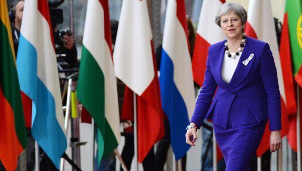 Премьер-министр Великобритании Тереза Мэй на саммите ЕС в Брюсселе. 22 марта 2018