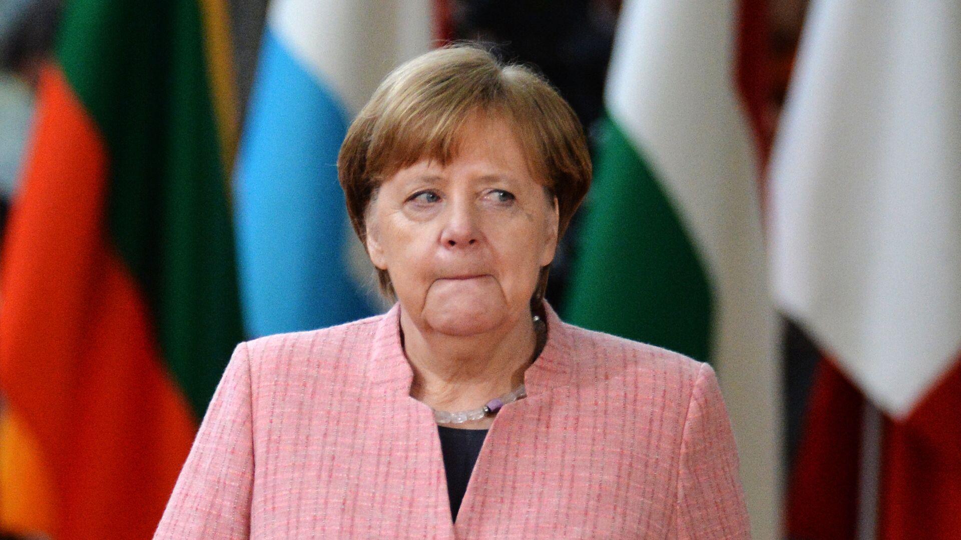 Канцлер Германии Ангела Меркель на саммите ЕС в Брюсселе. 22 марта 2018 - РИА Новости, 1920, 28.09.2020