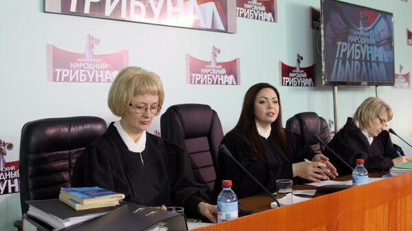Первое заседание народного трибунала над представителями украинских властей в Донецке