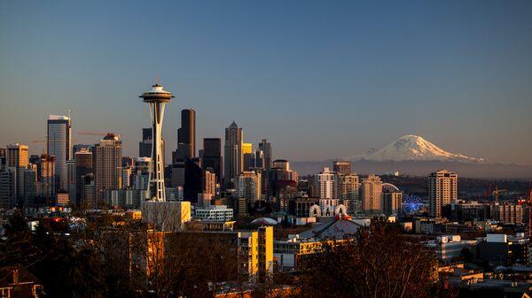 Вид на город Сиэтл в США. Архивное фото