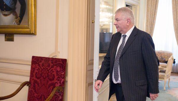 Чрезвычайный и полномочный посол Российской Федерации во Франции и Княжестве Монако Алексей Мешков. 26 марта 2018