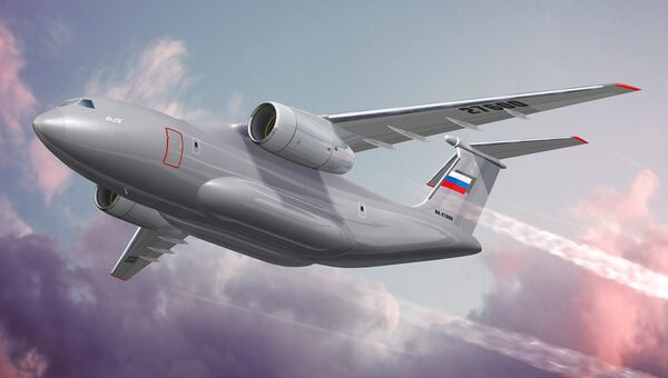 Перспективный средний военно-транспортный самолет Ил-276. Архивное фото