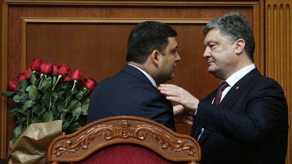 Премьер-министр Украины Владимир Гройсман и президент Украины Петр Порошенко