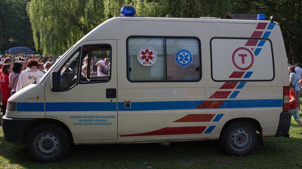 Машина скорой помощи в Польше