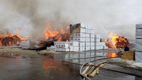 Пожару в Бокситогорском районе Ленинградской области. 31 марта 2018