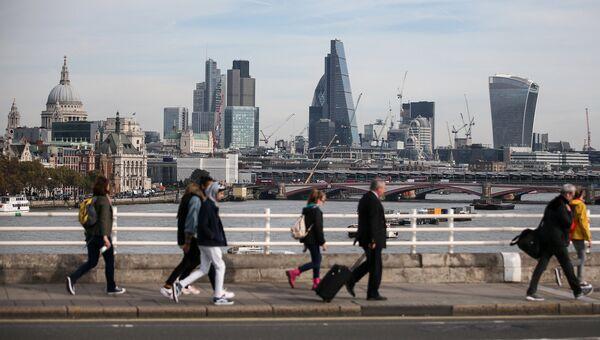 Вид на деловой квартал Лондона Сити