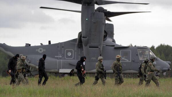 Литовский спецназ принимает участие в военных учениях НАТО Пылающий меч-2014 в Рукле