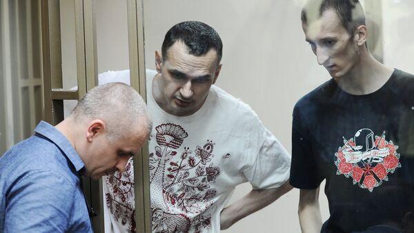 Олег Сенцов и Александр Кольченко в суде. Архивное фото