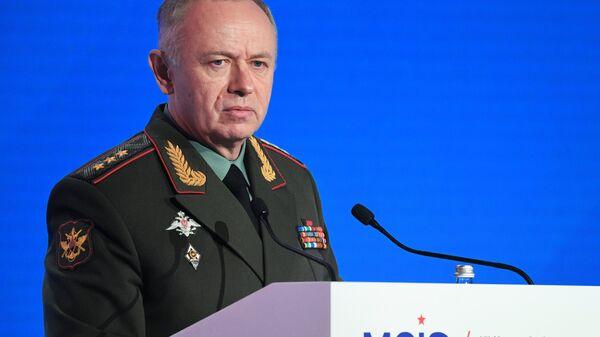 Заместитель Министра обороны РФ Александр Фомин на VII Московской конференции по международной безопасности. 4 апреля 2018