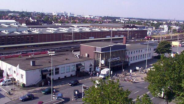Вид на город Падерборн в Германии. Архивное фото
