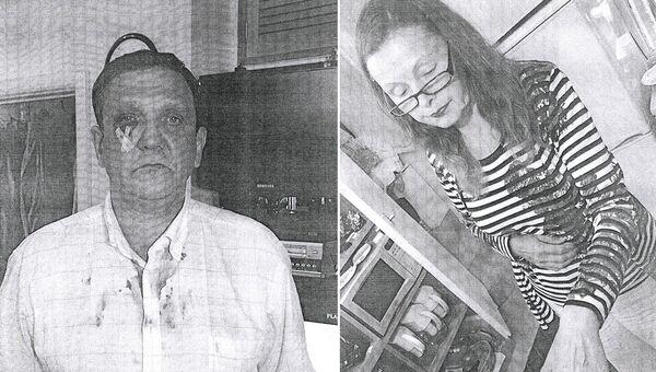 Владимир Терлюк и его супруга после нападения