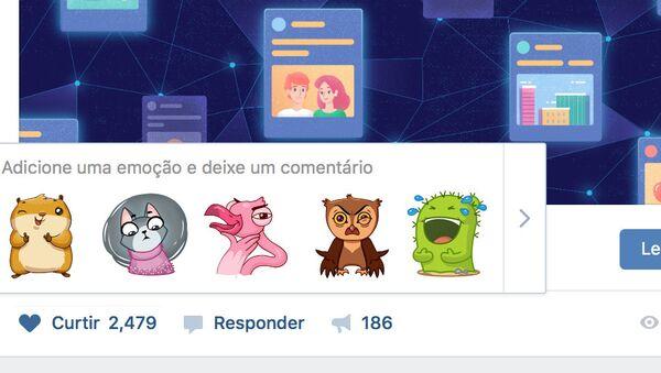 ВКонтакте тестирует в Бразилии подсказки стикеров на основе нейросетей
