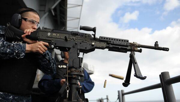 Стрельба из пулемёта M240B