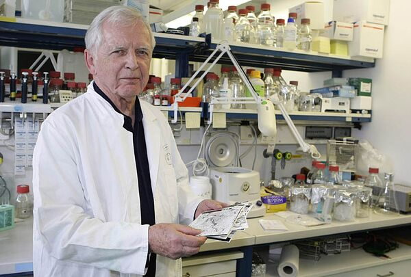 Лауреат Нобелевской премии по медицине Харальд цур Хаузен из Германии