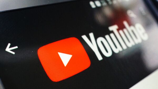 Логотип YouTube. Архивное фото