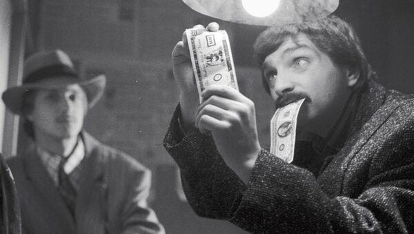 Иллюзионист Амаяк Акопян на съемках телесериала Игра в детектив