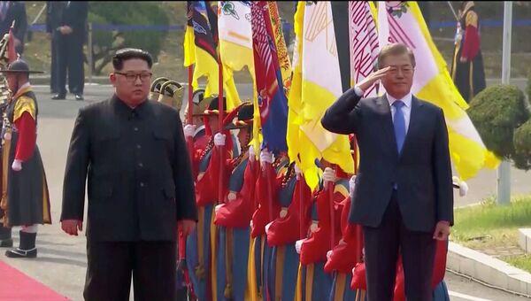 Встреча лидеров КНДР и Южной Кореи. 27.04.2018