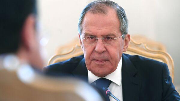 Министр иностранных дел РФ Сергей Лавров во время встречи в Москве с министром иностранных дел Кипра Никосом Христодулидисом. 27 апреля 2018