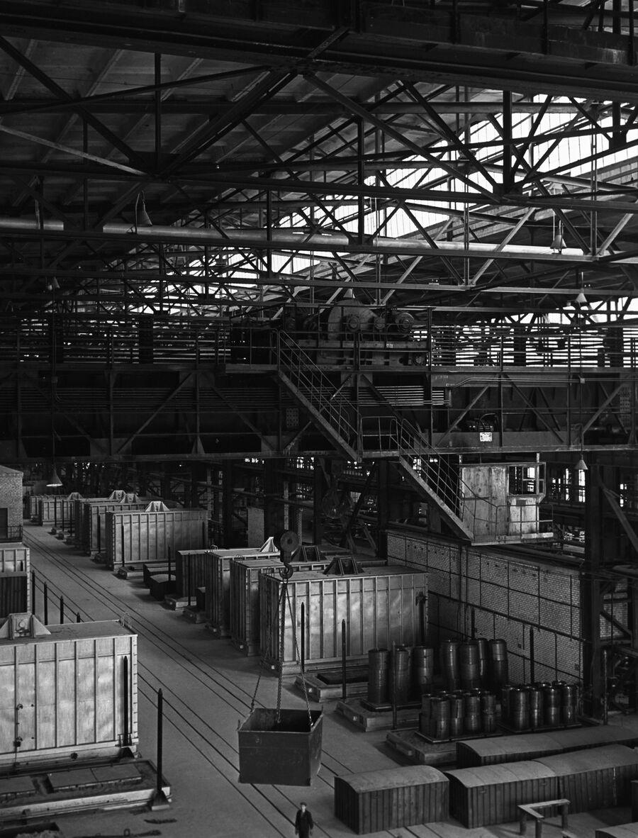 Термический цех Новолипецкого металлургического комбината (НЛМК). 1960 год