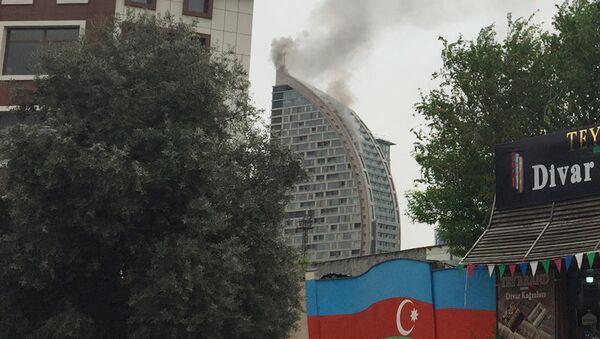 Пожар в Trump Tower в Баку. 28 апреля 2018
