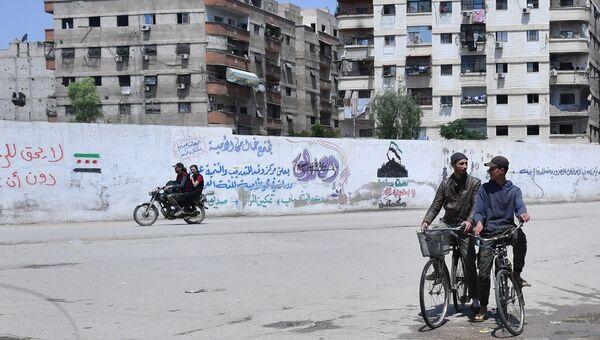 Ситуация в районе города Бабила к югу от Дамаска. 30 апреля 2018