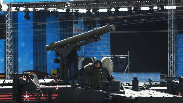 Парад военной техники, посвященный празднованию 100-летия образования Южного военного округа в Ростове-на-Дону. 5 мая 2018