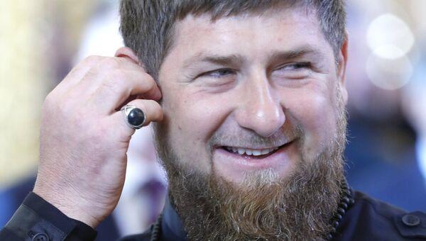 Глава Чеченской Республики Рамзан Кадыров перед началом церемонии инаугурации президента РФ Владимира Путина в Кремле. 7 мая 2018