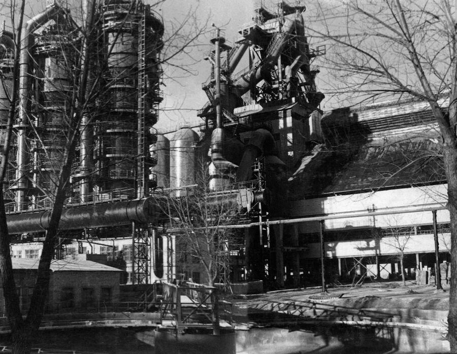 Новолипецкий металлургический завод. Послевоенная доменная печь номер 1, 1952 год