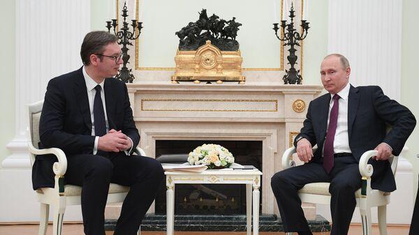 Владимир Путин и Александр Вучич. Архивное фото