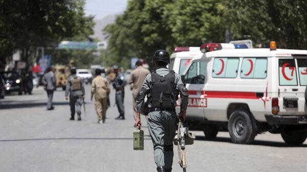 Сотрудники безопасности в Кабуле