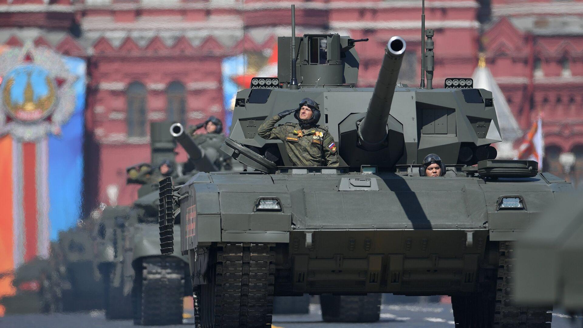 Танк Т-14 Армата на военном параде, посвященном 73-й годовщине Победы в ВОВ - РИА Новости, 1920, 16.01.2021
