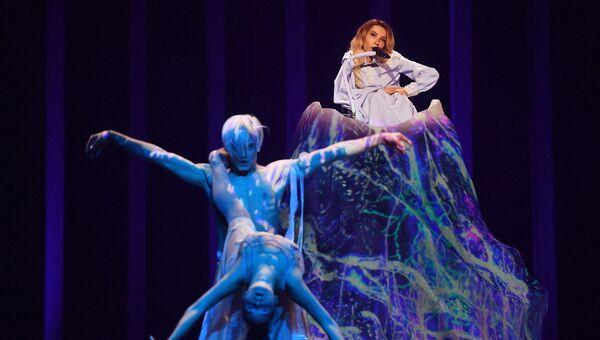 Певица Юлия Самойлова во время репетиции второго полуфинала конкурса Евровидения-2018. 9 мая 2018