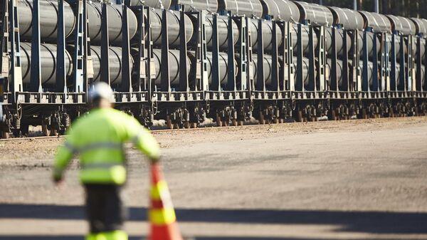 Трубы для строительства трубопровода Северный поток - 2 в финском Котке. Архивное фото