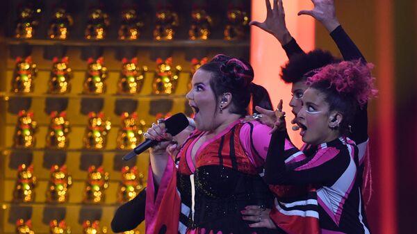 Участница из Израиля Нетта Барзилай в финале конкурса Евровидение. Архивное фото