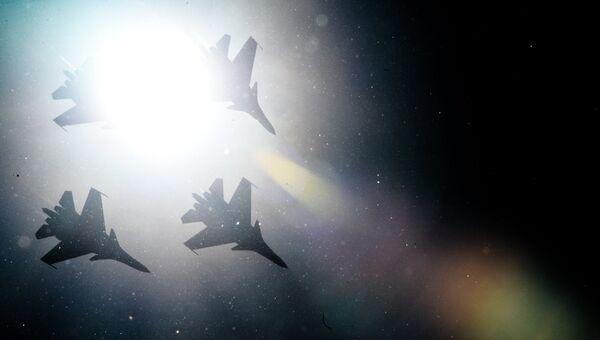 Истребители Су-30СМ. архивное фото