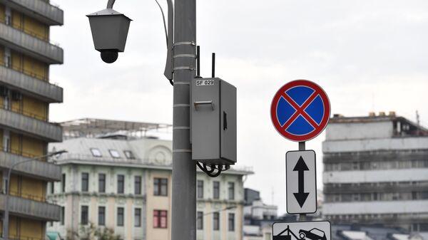 Дорожная камера нового типа Стрит Фалькон, установленная на Новом Арбате Москвы
