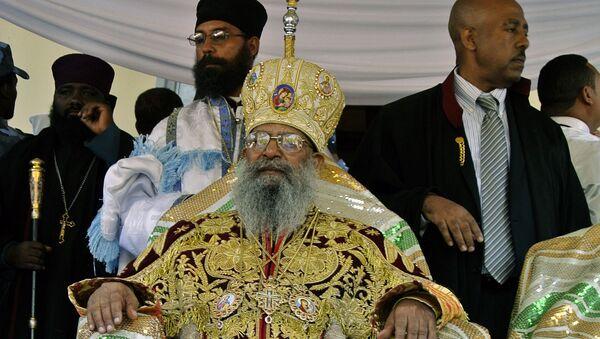 Патриарх Эфиопии  Абуна Матфий в Свято-Троицком соборе в Аддис-Абебе