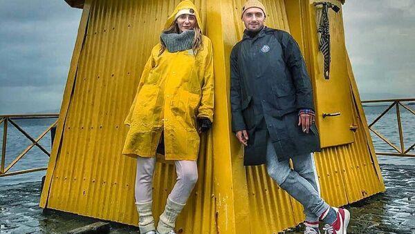 Исландия. Рейкьявик. Екатерина Варнава на отдыхе с Константином Мякиньковым
