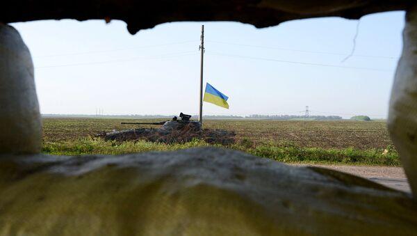 Танк украинской армии в Донбассе. Архивное фото