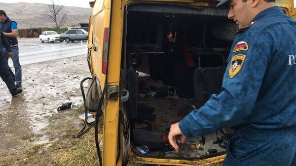 ДТП с пассажирской Газелью в Дагестана