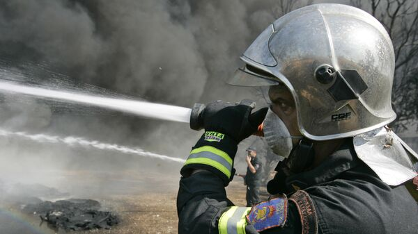 Сотрудник пожарной службы Греции