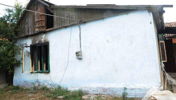 Сожженные и разбитые местными жителями дома цыган в Одесской области