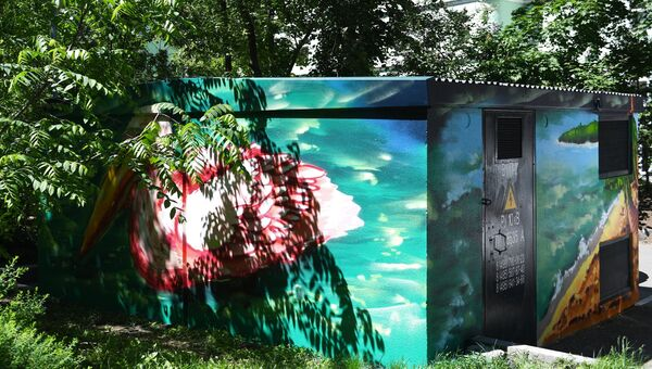 Граффити на трансформаторных подстанциях в Москве