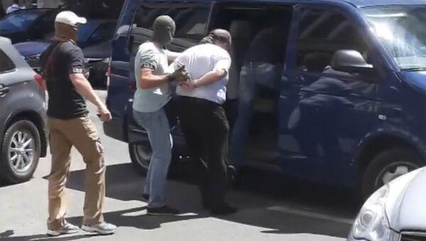 Задержание предполагаемого заказчика покушения на журналиста Аркадия Бабченко в Киеве. Архивное фото