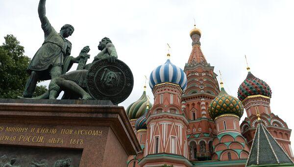Памятник Минину и Пожарскому в Москве. Архивное фото
