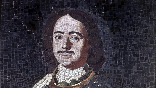 Репродукция мозаичного портрета Петра I М.В.Ломоносова. 1754 год