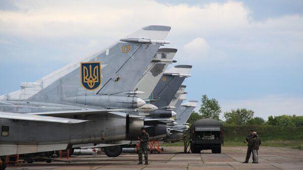 Самолеты Су-24МР и Су-24М украинских ВВС